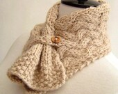 Knitting Pattern Scarf Easy Cable Neckwarmer Knit PDF Digital Delivery