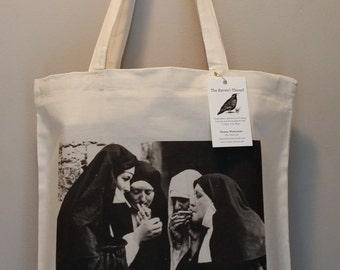 Smoking Nuns Tote Bag