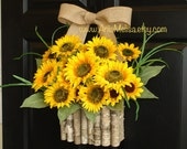 summer wreath sunflowers wreaths for front door wreaths outdoor wreath decor yellow front door wreaths gift ideas outdoor wreaths