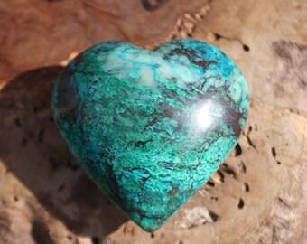 Chrysocolla Crystal Heart