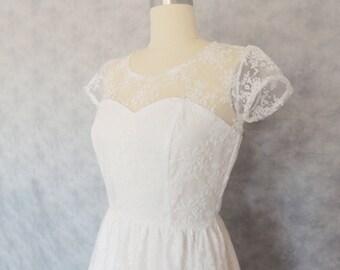 Delicate Darling - Tea Length Dress Delicate Wedding Bridesmaid Reception Engagement