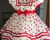 Custom for SWEETCHEEKSVA - Polka Dot Shirley Temple Girls Costume