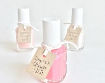 Bridal Shower Nail Polish Tags. Custom Favor Tags. Kraft Brown Favor Tags. Baby Shower Wedding Custom Nail Polish Favor Tags. Wedding Gift