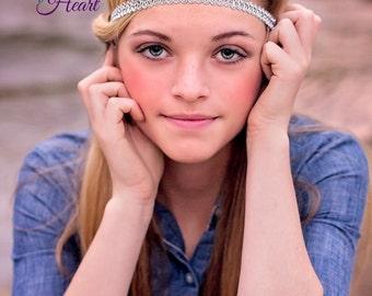 Silver Boho Headband - Boho Headband - Bohemian Headband - Forehead Headband - Hippie Headband - Halo Headband  - Womens Headband - Headband
