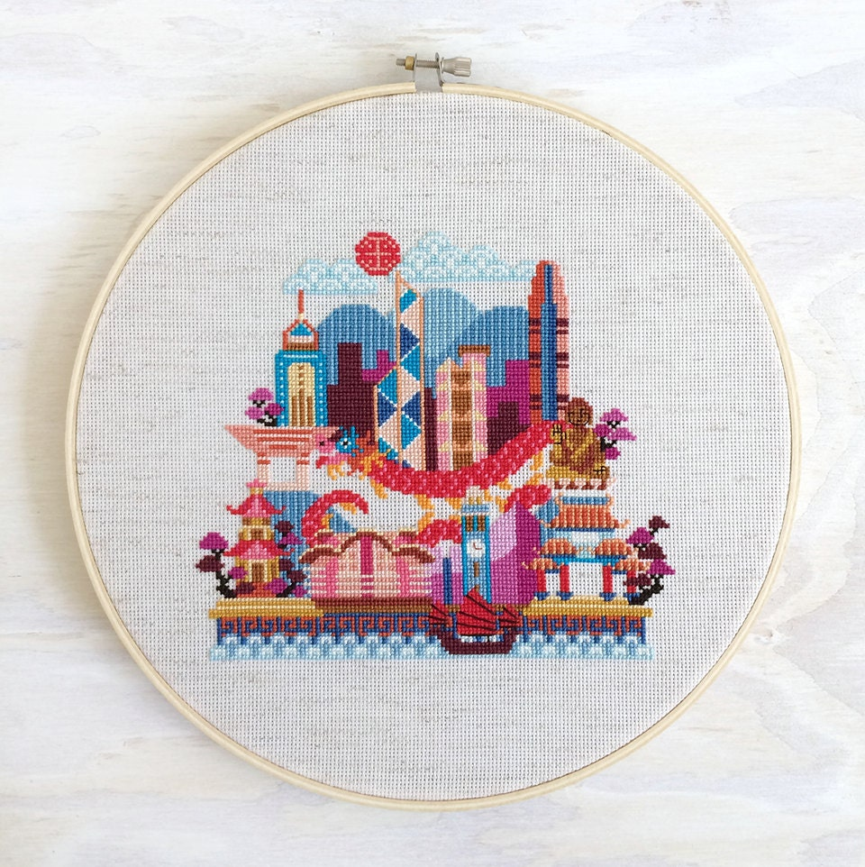 Pretty little hong kong satsuma street modern cross stitch