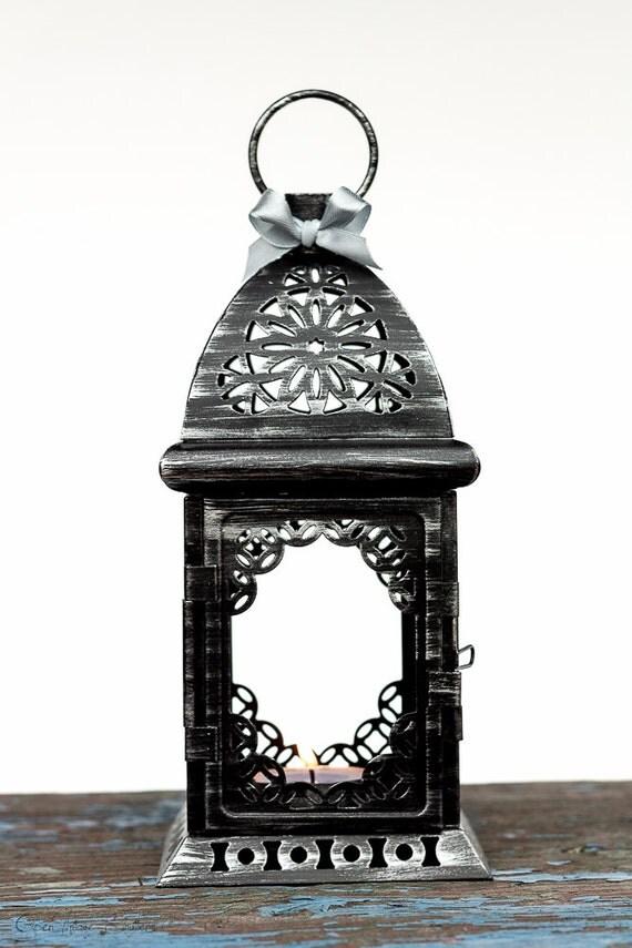 black silver wedding candle lantern centerpiece moroccan. Black Bedroom Furniture Sets. Home Design Ideas