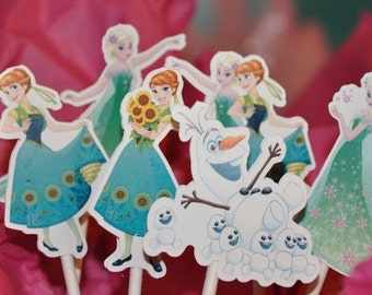 Disney Frozen Fever Cupcake Toppers Set of 12