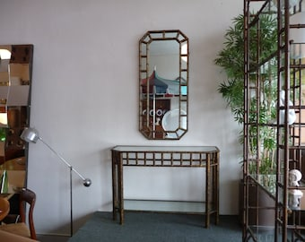 Faux Bamboo Mirror and Console Table: Made in Italy