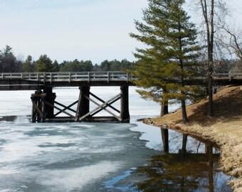 Minocqua Bridge Early Spring Fine Art Print - Landscape Photography