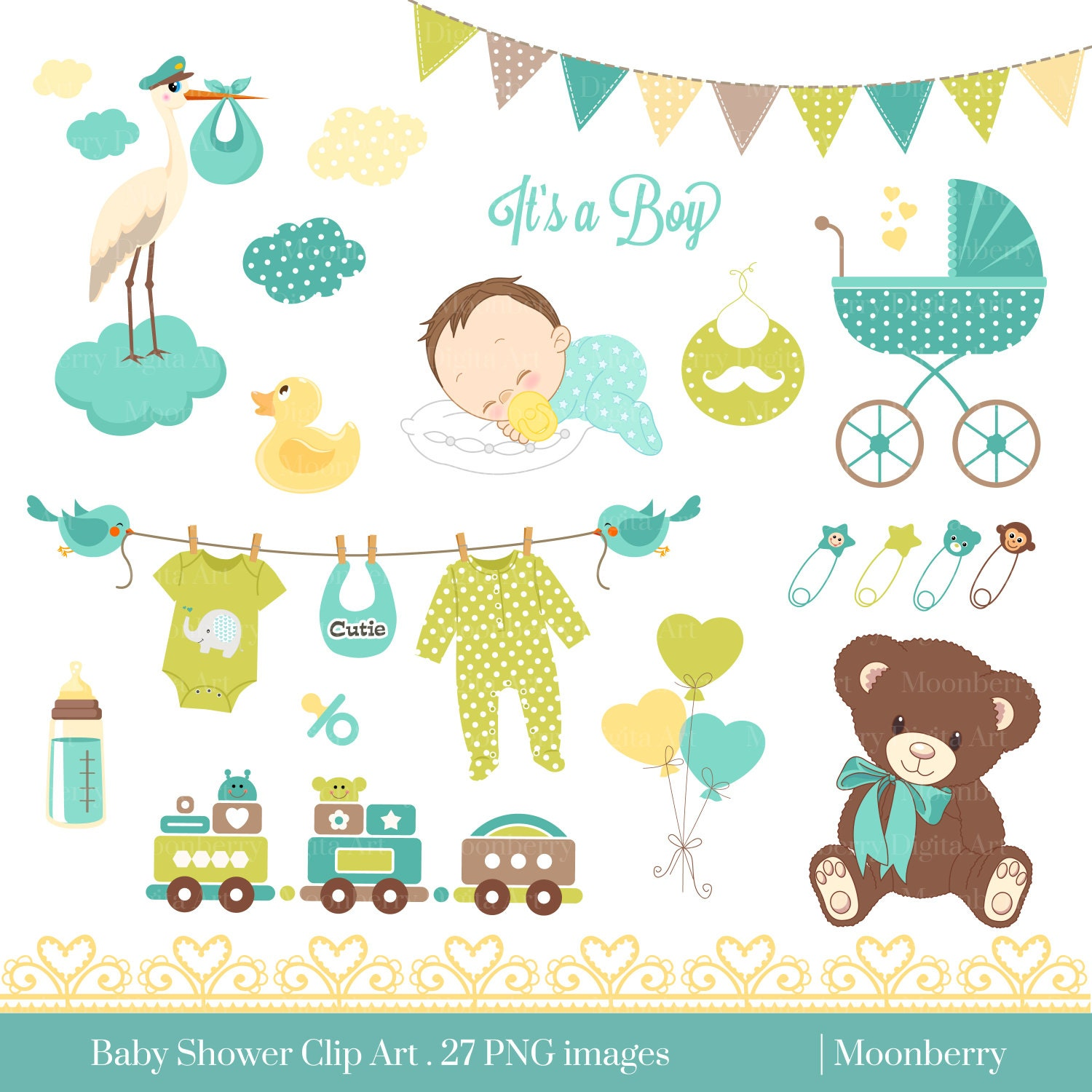 baby boy clipart shower - photo #45