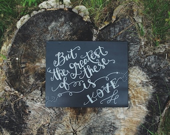1 Corinthians 13:13 Handmade Canvas