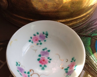 Small Jewelry Bowl with Flowers