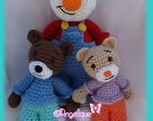 T'Choupi et Doudou-inspiré du personnage de dessin animé au crochet