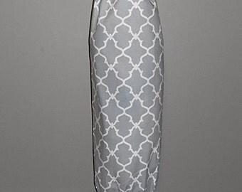 Grocery Bag Holder - Plastic Bag Holder - Bag Dispenser - Gray Quatrefoil -Gray Lattice
