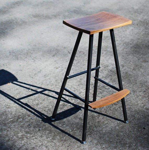 Modern Industrial Bar Stool Or Kitchen Stool Both Durable