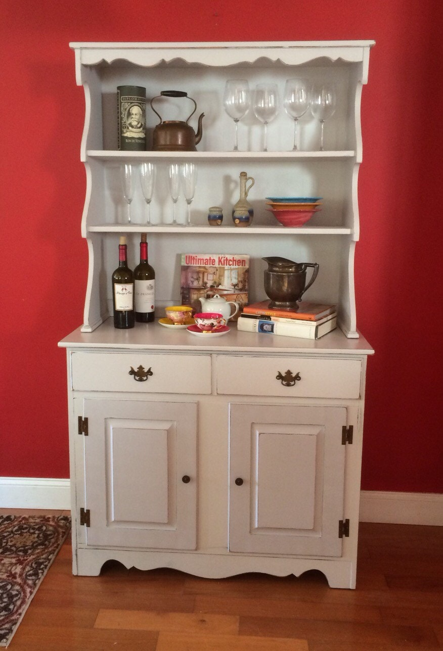 vintage shabby chic kitchen hutch china by eclectichomeliving