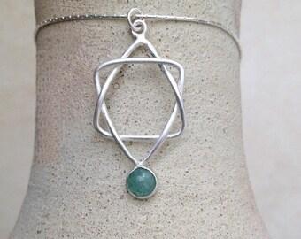 Star Of David  necklace , Star pendant , Judaica Necklace , Jewish Star pendant , Sterling Silver Star of David , Unisex Star of David