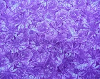 Purple Daisy Fabric, RJR Spring Symphony 1819, Dan Morris,  Purple Flower Fabric, Purple Floral Quilt Fabric, Purple Fabric, Cotton Daisies