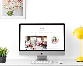 Modern Design Blog modern and elegant blogger templatespinkpotdesigns on etsy