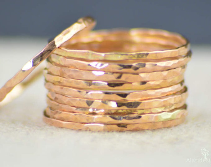 Super Thin 14k Rose Gold Ring(s), 14k Rose Gold Filled, Rose Gold Stacking Rings, Simple Rose Gold Ring, Thin Rose Gold Rings, Dainty Rings