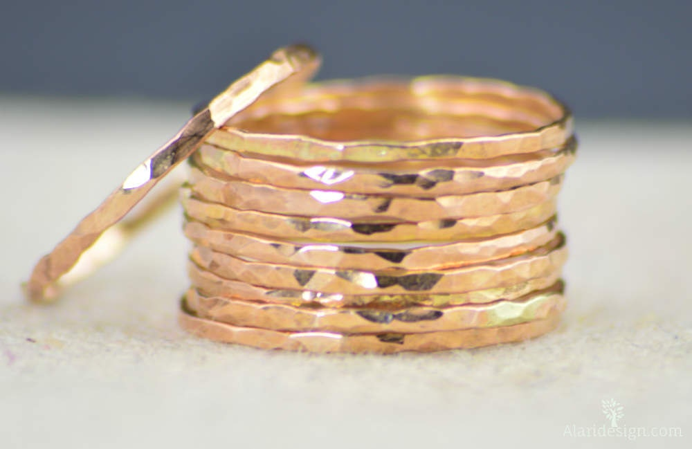 Super Thin 14k Rose Gold Ring s 14k Rose Gold Filled Rose Gold