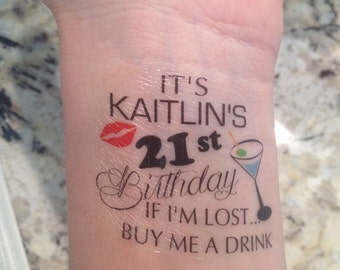 Customized Birthday Tattoos- For Any Age!