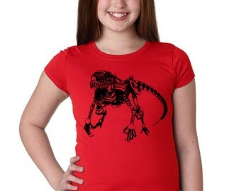 Girls Steampunk Raptor Shirt 3710