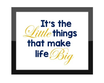 Greek Sorority Big Little Gift / It's The Little Things That Make Life Big / College Dorm Decor