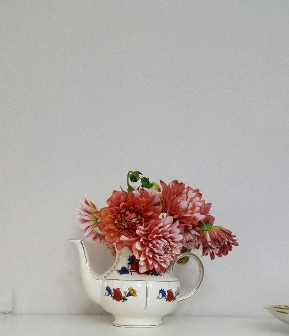 Items similar to arthur wood teapot vase centerpiece