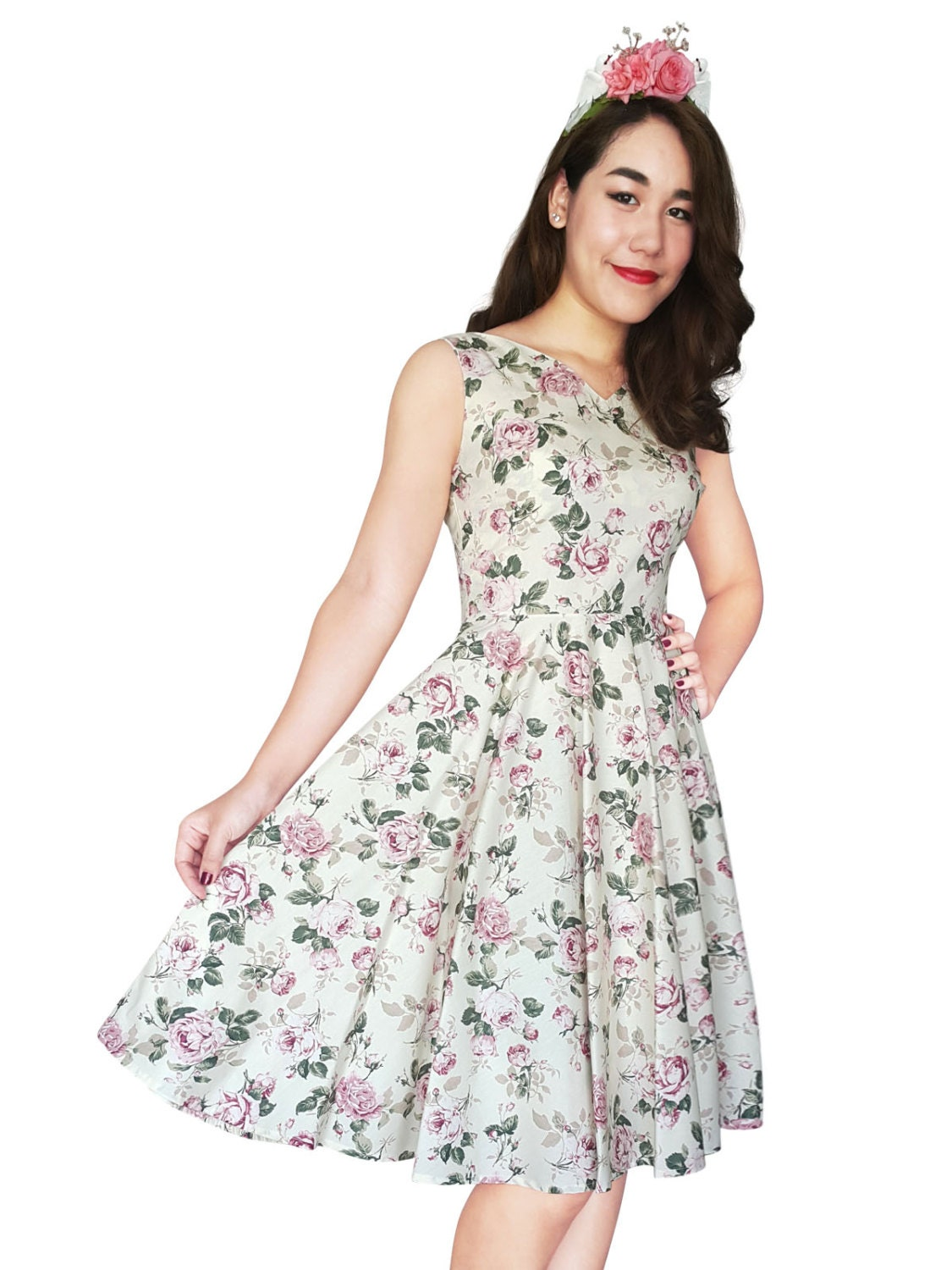 Vintage rose bridesmaid dress floral bridesmaid dress floral for Antique rose wedding dress