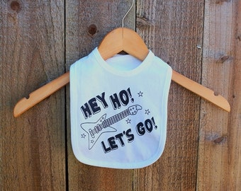 Hey Ho! Let's Go! Baby Bib