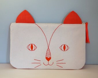 "Pouch collection ""Meow"" gooseberry"