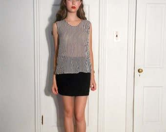 vintage 90s sheer striped tank top