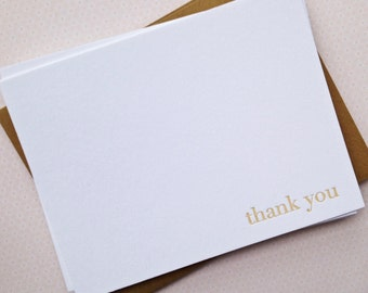 Letterpress Thank You Card Set: Classic Thank You Note Cards