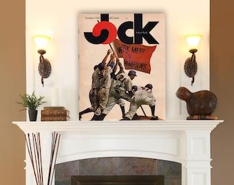 New York Mets 1969  Jock Mag. Cover, New York Art, New York Canvas, Canvas Art, New York print, New York Wall art,  New York City, Baseball