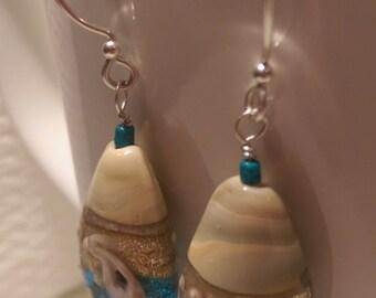 San Juans: Beachy Ocean Glass Earrings
