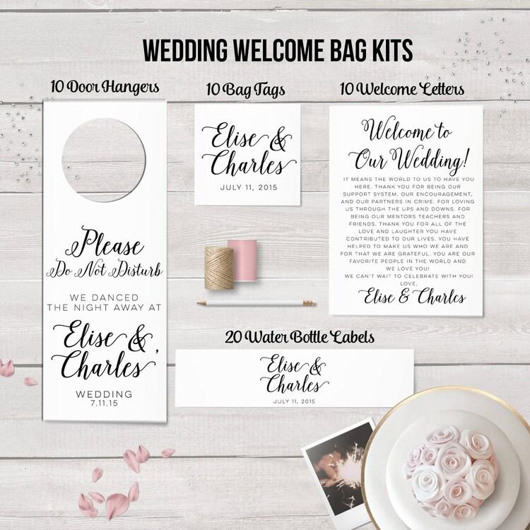 Wedding Welcome Bag Kit Destination Wedding By Designedbyme