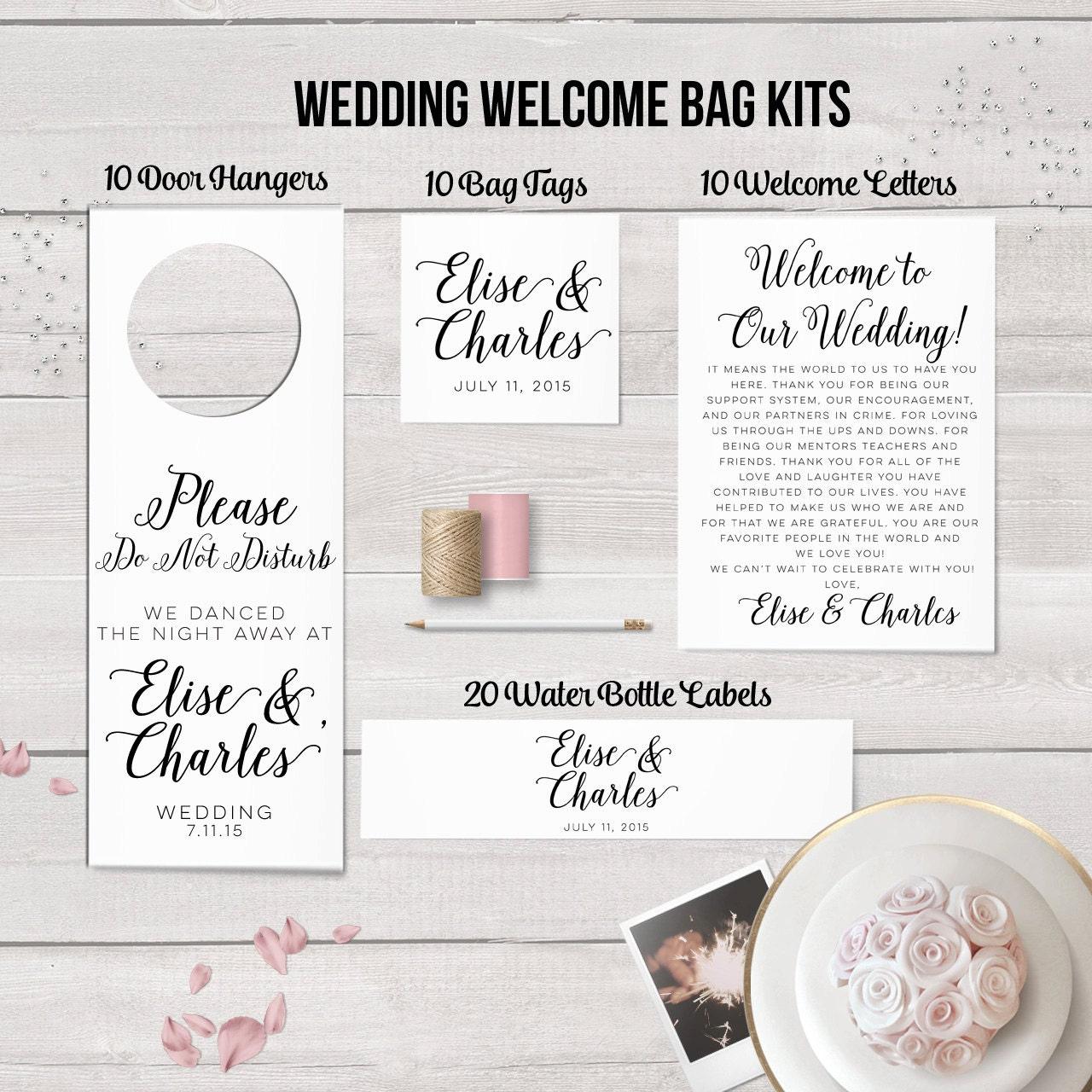 Wedding Welcome Bag Kit Destination Wedding Wedding Favors