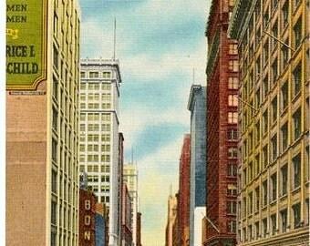 Vintage Chicago Postcard - State Street (Unused)