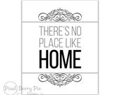 There's no place like home // Dorothy Gale QUOTE // Typography Print // Printable 8x10 inch Subway Art // Digital File, Instant Download