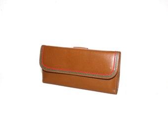 GUCCI Vintage Wallet Bi-Fold Brown Leather Web Trim Coin Purse - AUTHENTIC -