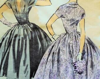 Vintage Advance 7914, 1950s Dress Pattern, Anne Fogarty Design, Bust 36, Party Dress, 1950s Prom Dress, Full Skirt, 1950s Sewing Pattern