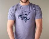 LIFT MORE Men's Workout Tshirt Shark T shirt, Men's Graphic tee, Organic Clothing, Bamboo T-shirt Mens Tshirt