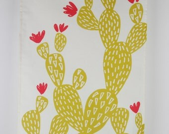 Cactus tea towel by MaggieMagoo Designs, designed and printed in the UK