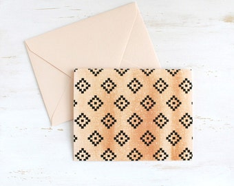 Blush Diamond Note Cards with Envelopes (Set of 5)