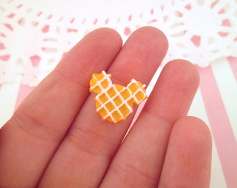 Miniature Mouse Ear Waffle Cabochons, Cute Decoden Kawaii Sweets, #762b