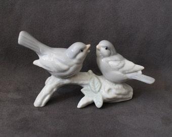Vintage Otagiri  Porcelain Birds on Branch Figurine, Otagiri Birds Finch Collectibles, Bird Figurine, Gift for Bird Lovers