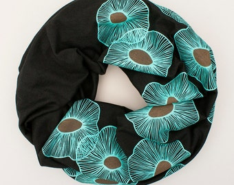 infinity scarf, organic cotton scarf, cotton and bamboo jersey scarf, summer scarf