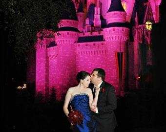 Gorgeous Blue Taffeta Wedding Dress Custom Made in your Measurements Fairytale Bridal Gown