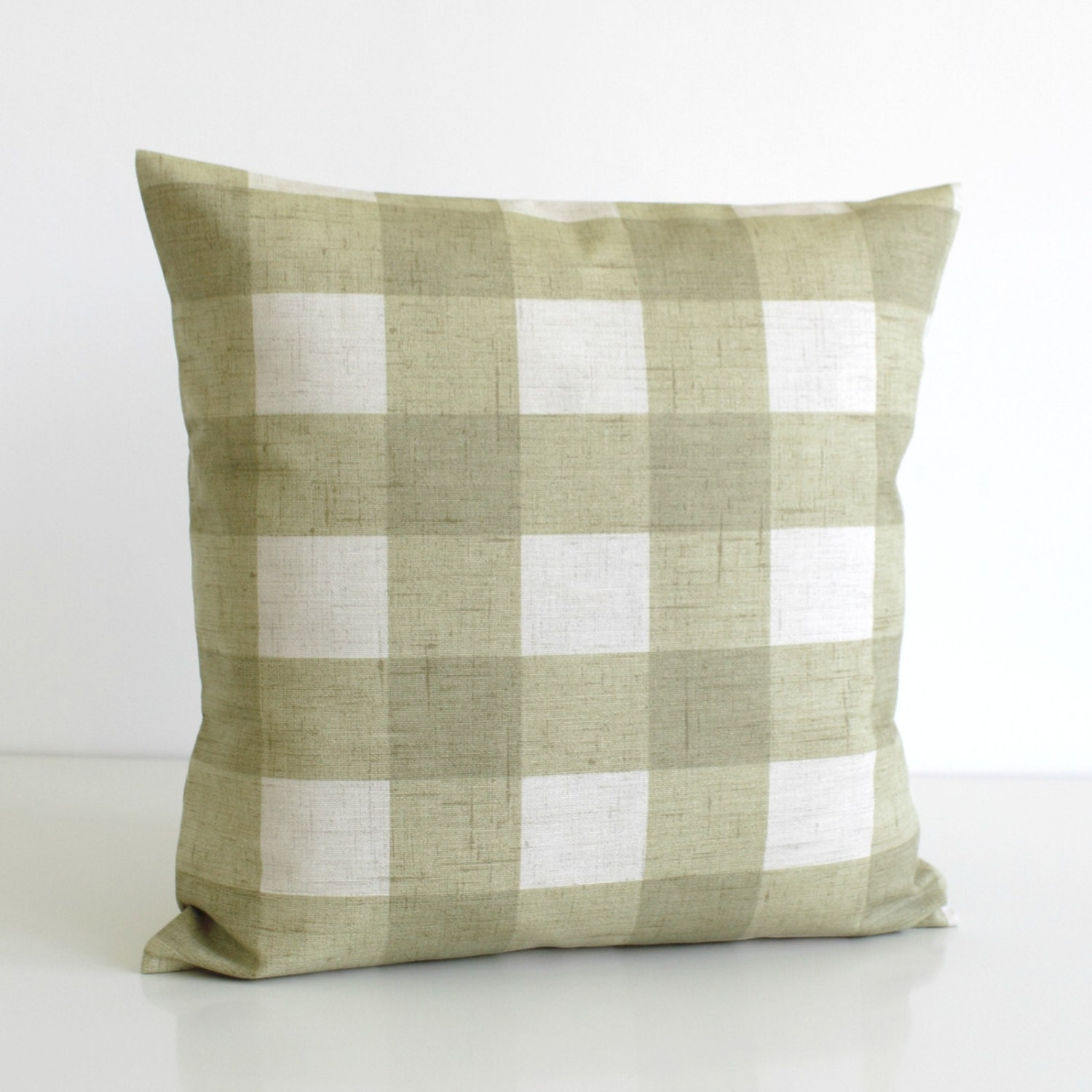 Shabby Chic Pillow Images : Shabby Chic Pillow Cover Gingham Cushion Cover by CoupleHome